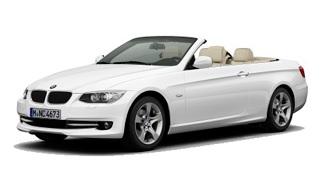 cheap BMW 320d Cabrio for rent in Tivat airport
